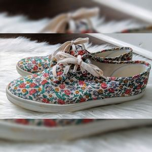 Keds Sneakers - Floral Print - Size 9 1/2